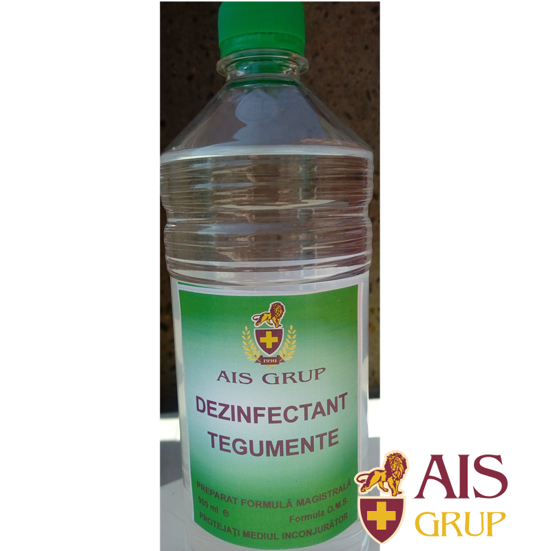 Dezinfectant Tegumente - AIS Pharma - Preparat 900 ml cu flacon